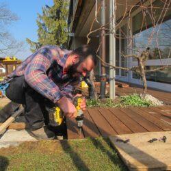 Holzrost Gartengestaltung Basel