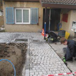 Pflasterbelag Gartengestaltung Basel